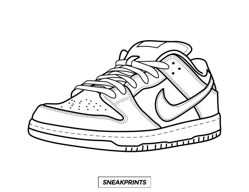 Air Force 1 Low Coloring Pages - Coloring Home