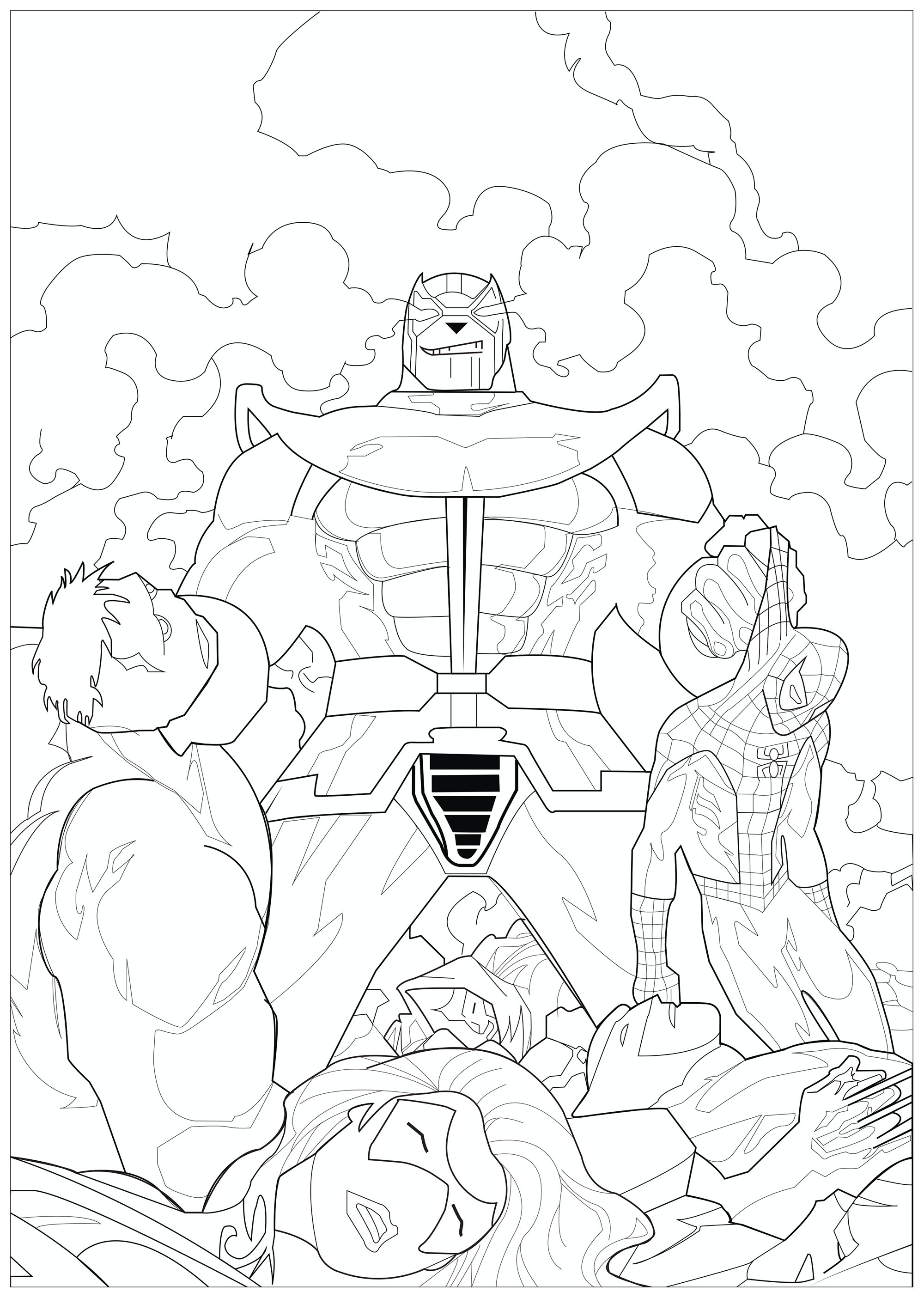 Marvel - Coloring Pages for Adults