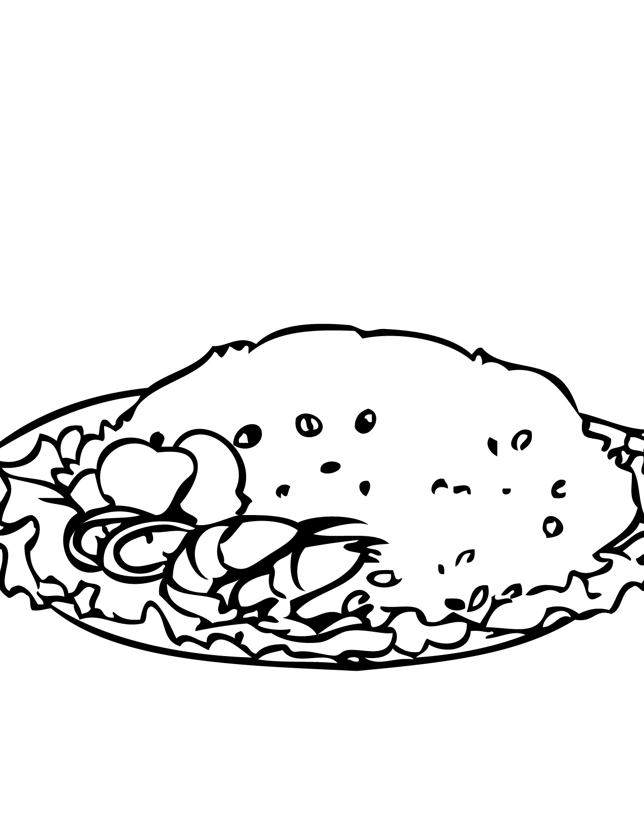 Rice clipart coloring page, Picture #3128626 rice clipart coloring page