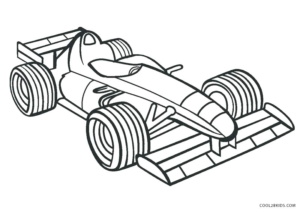 A Formula 1 Coloring Page - Free Printable Coloring Pages for Kids