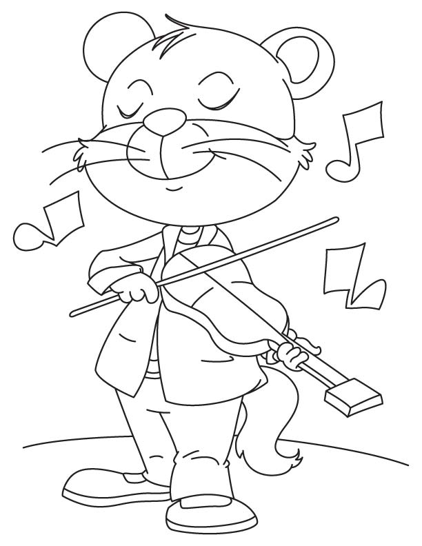 fiddle coloring pages - photo#32