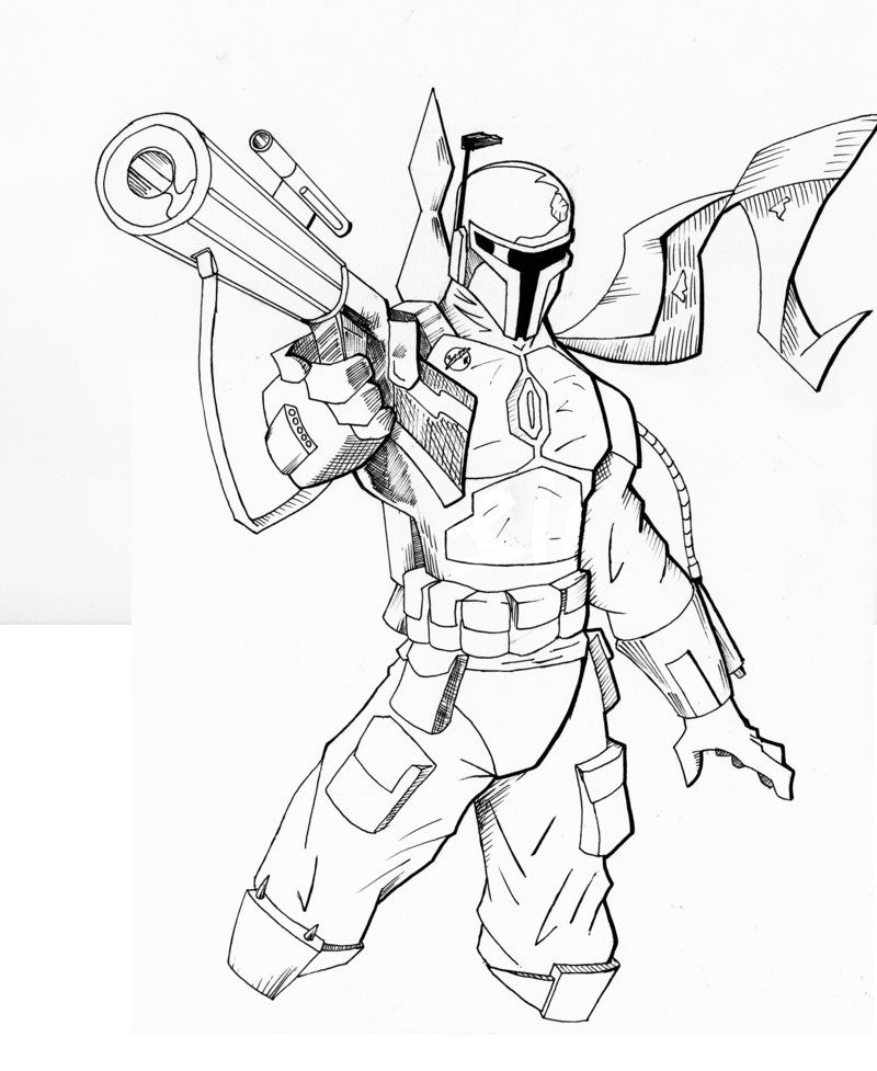 boba fett coloring pages printable - photo#20