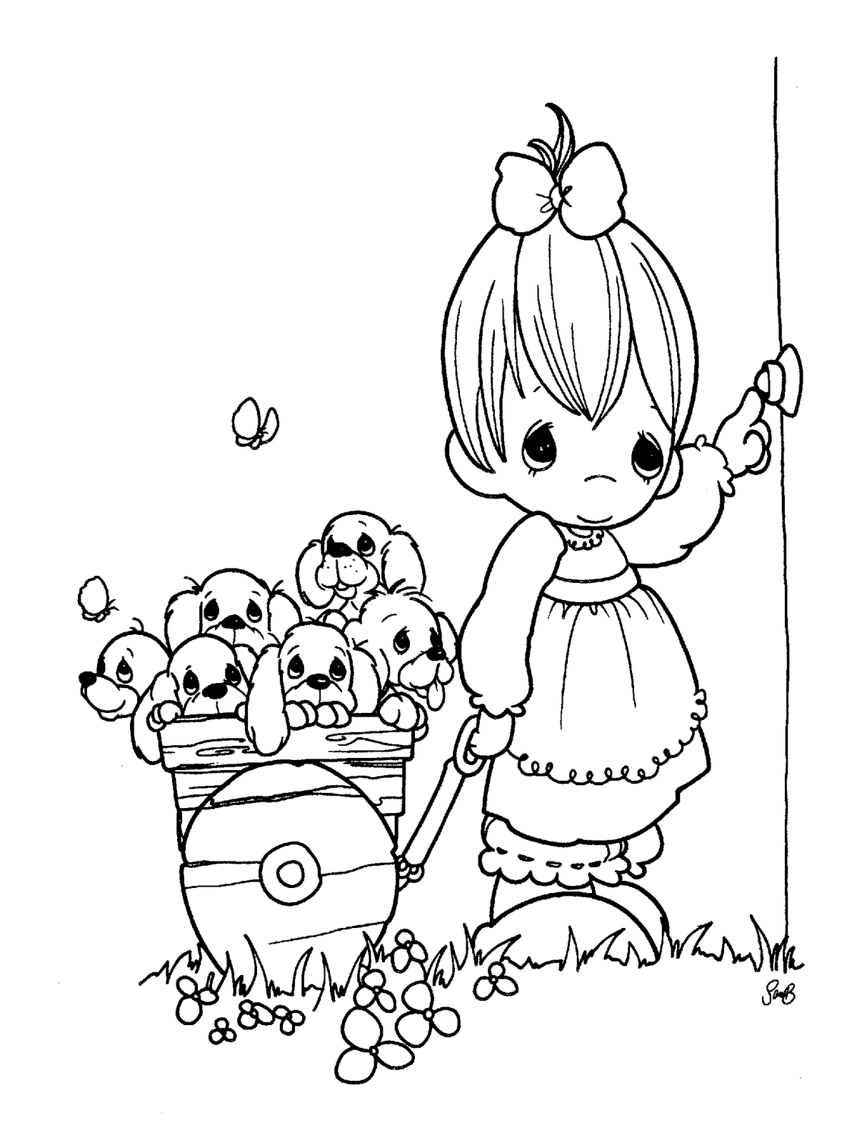 precious moments coloring pages autumn - photo#7