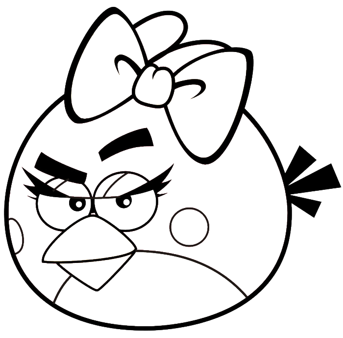 Girl Angry Birds Coloring Pages