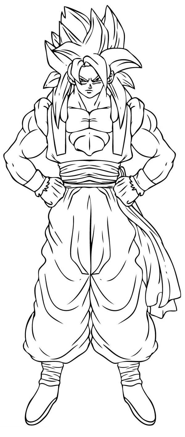 Dragon ball z goku super saiyan 2 coloring pages coloring home - Dessin sangoku ...