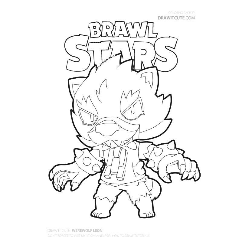 ausmalbilder brawl stars leon skins