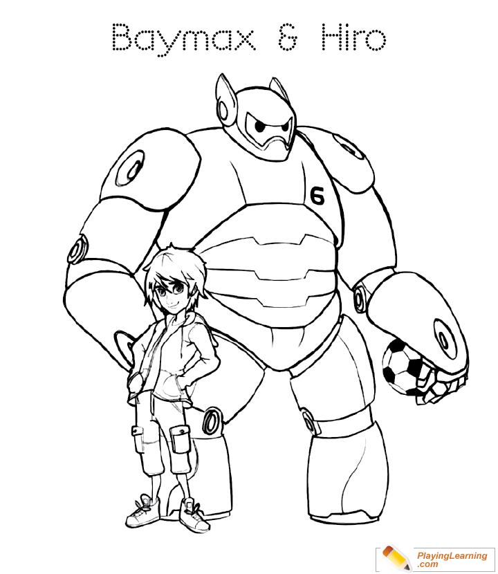 Big Hero 6 Coloring Page 16 Free Big Hero Coloring Page Coloring Home