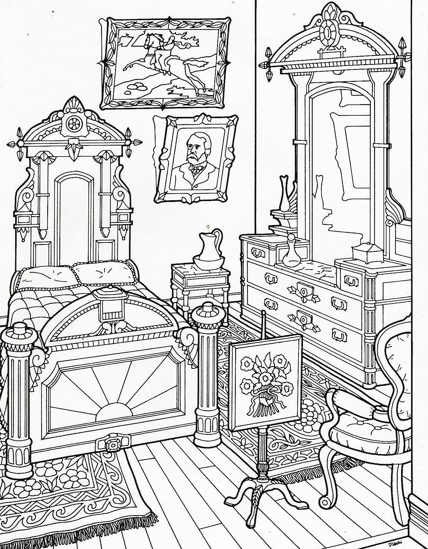 Victorian Houses Coloring Pages - Coloring Home