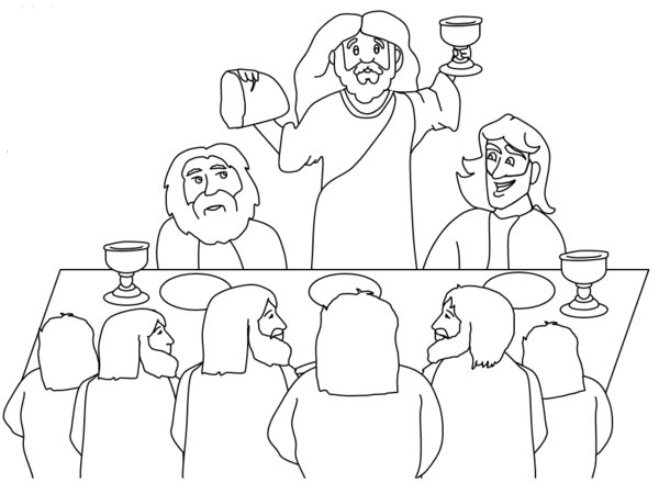 The Last Supper Coloring Page Coloring Home Last Supper Coloring Page