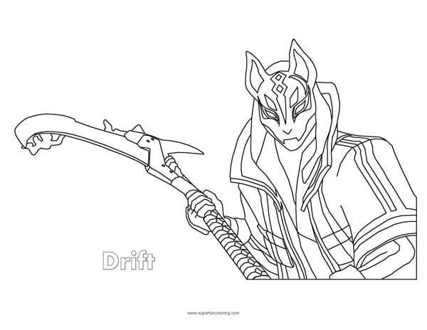 Fortnite Drift Coloring Page - Super Fun Coloring
