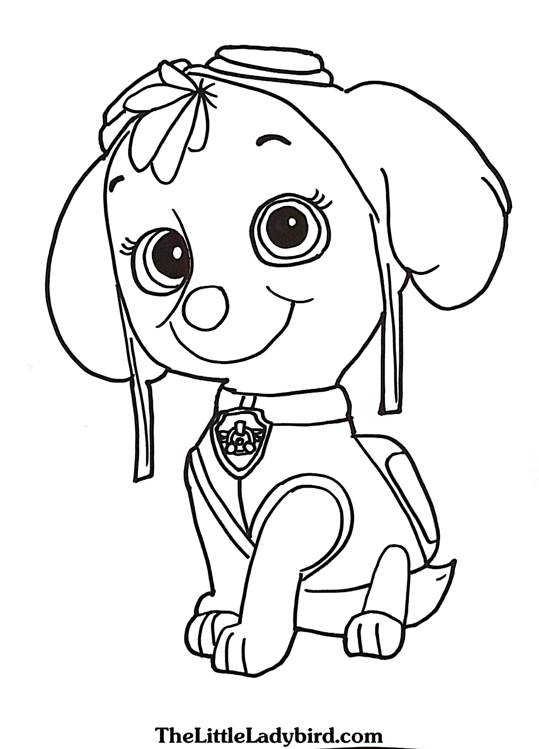 Coloring Pages : Coloring Mighty Pups Skye Book Free Paw Patrol ...