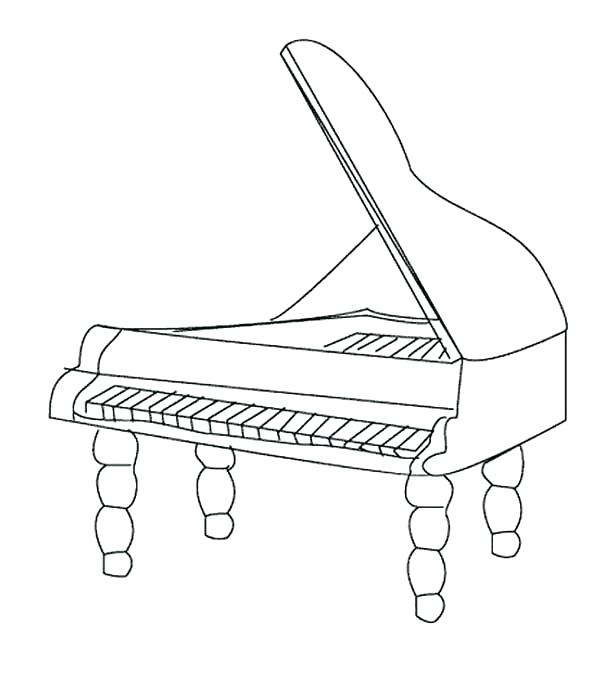 Piano Coloring Pages at GetDrawings.com | Free for personal ...