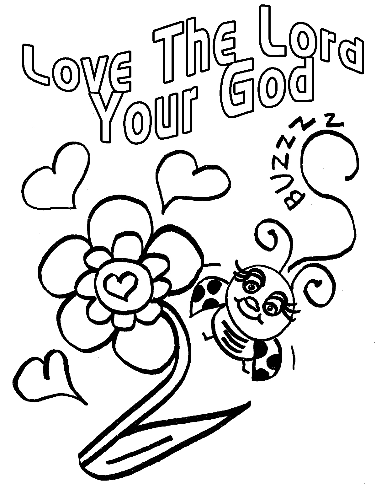 God Is Love Coloring Pages Free - Coloring Home