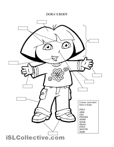 Body Coloring Pages For Preschoolers Preschool Parts Page Of The