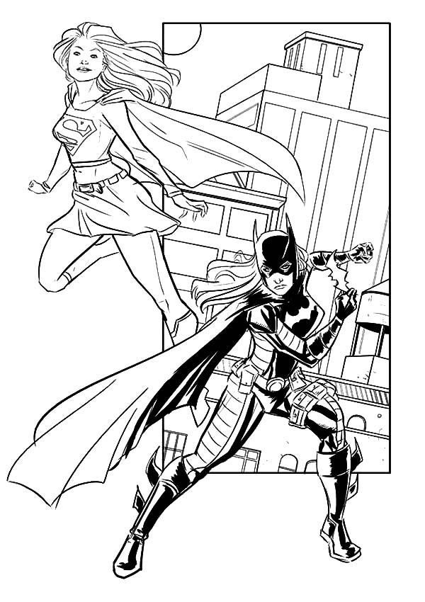 Supergirl Coloring Pages Coloring Home Batgirl And Supergirl Coloring Pages Printable