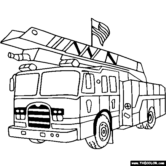 coloring pages fire engine coloring home