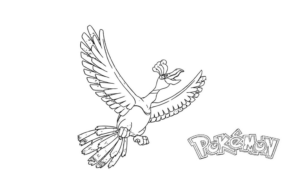 Ho Oh Coloring Pages Coloring Home