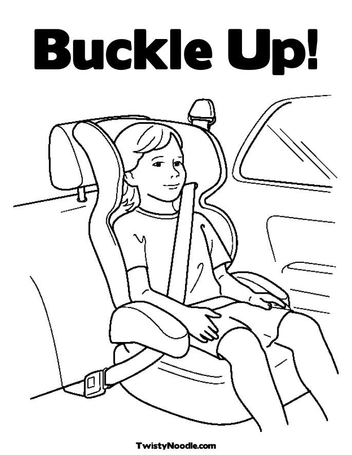 Traffic Safety Coloring Sheets - Google Twit
