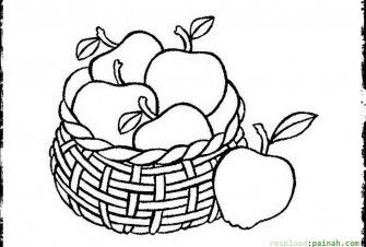 fruit baskets coloring pages - photo#25