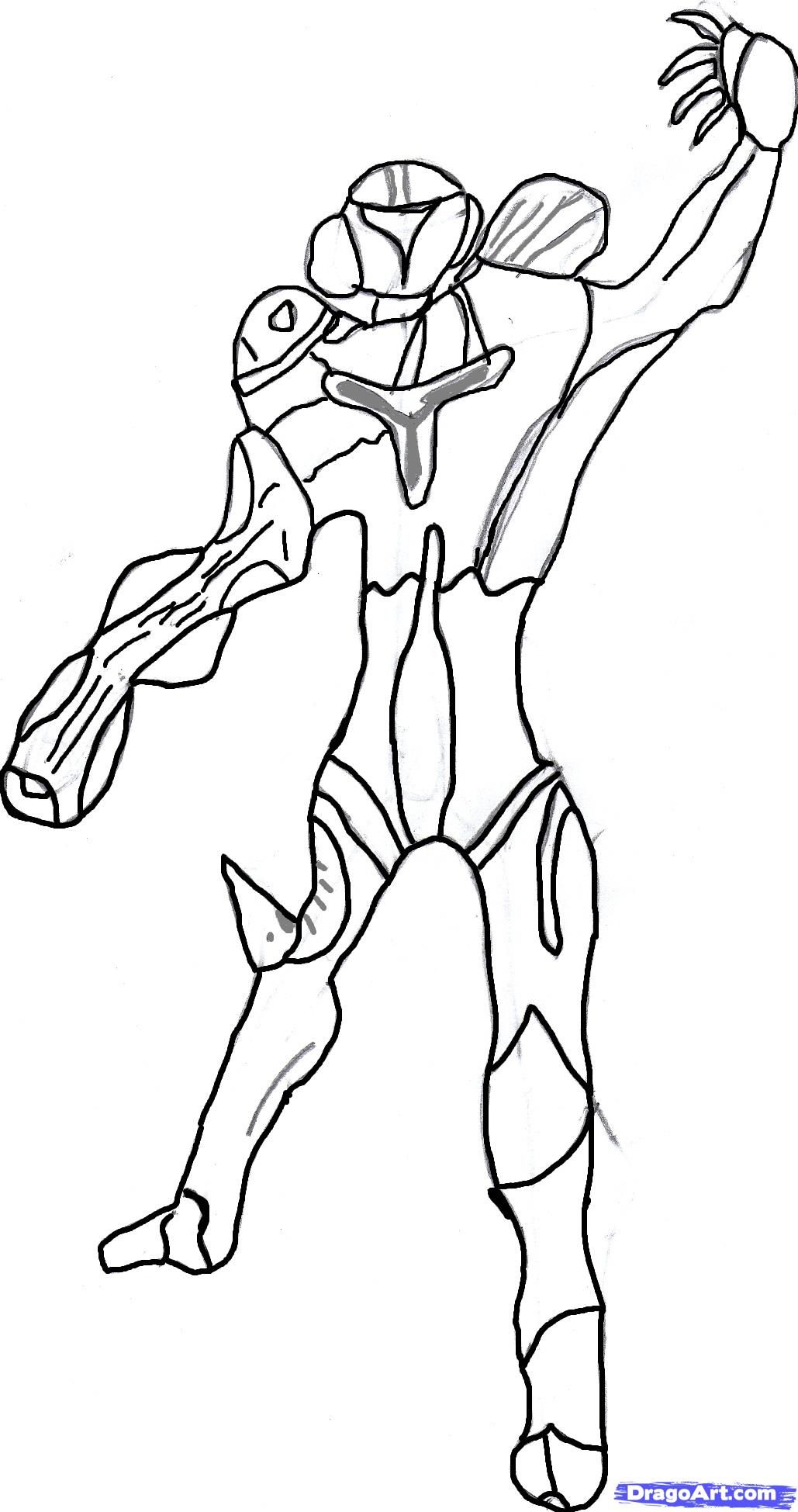 metroid coloring page coloring home