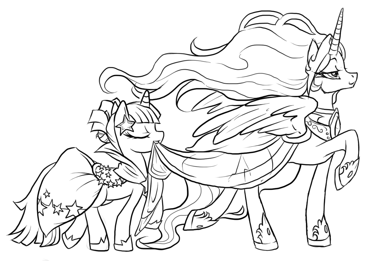 princess luna coloring pages - photo#17