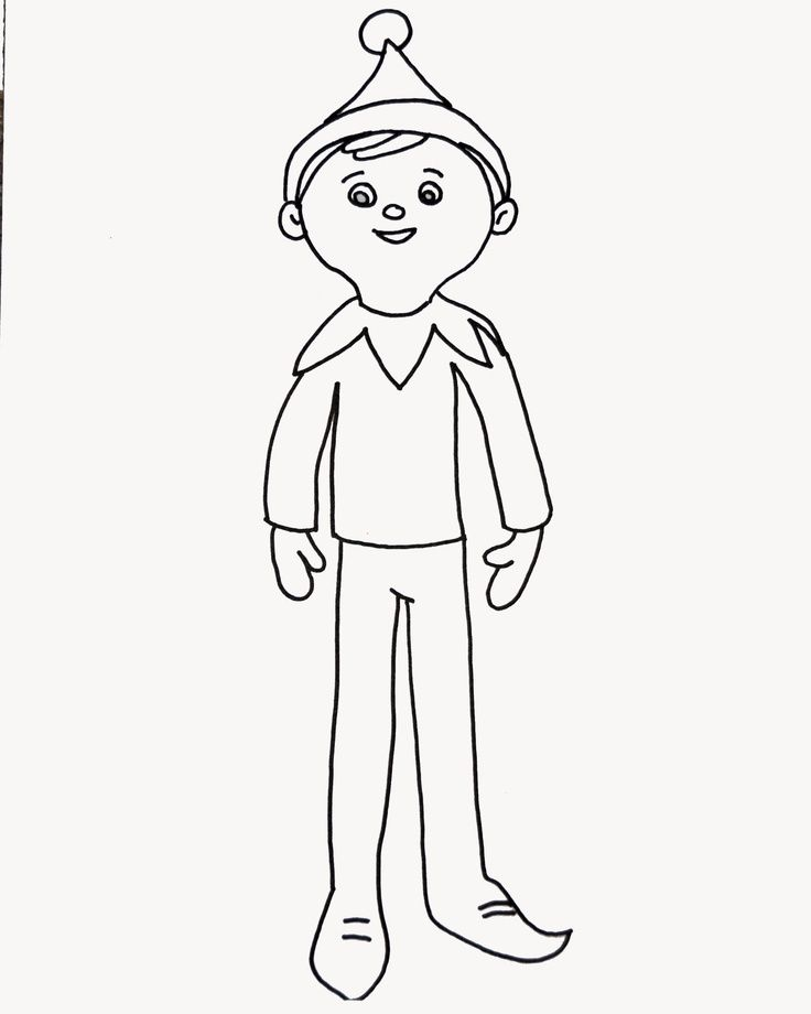 Elf Coloring Pages Pdf : Essay elf on the shelf color pages az coloring fast