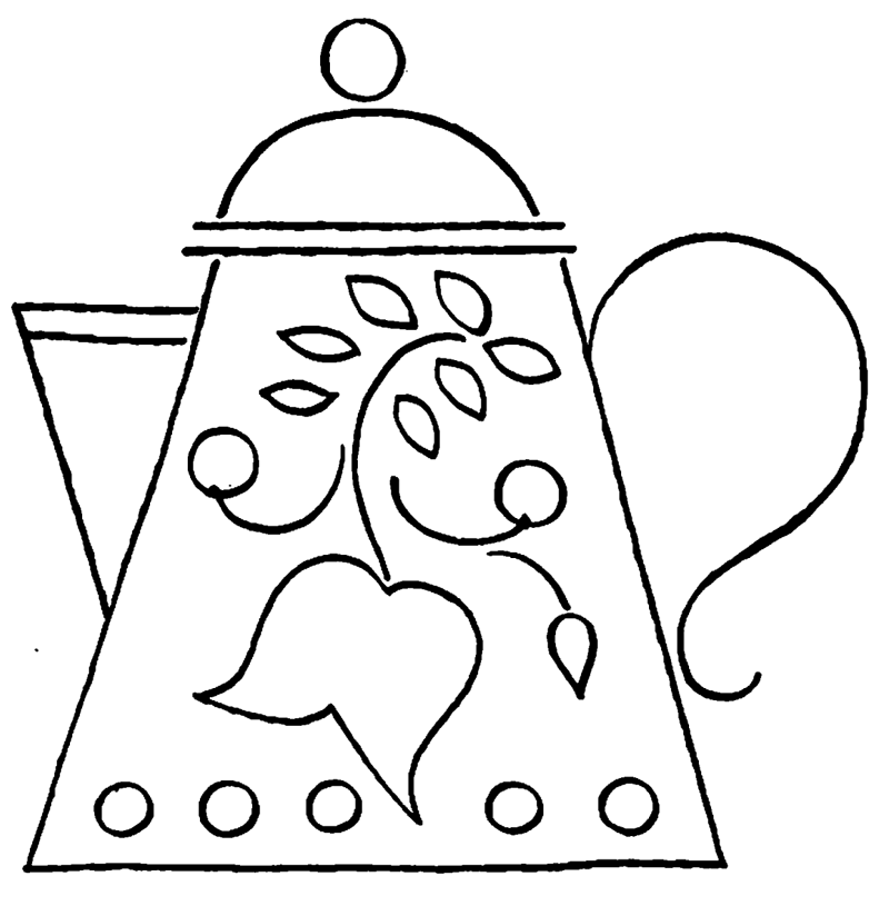teapot printable coloring pages | Teapot Coloring Page - Coloring Home