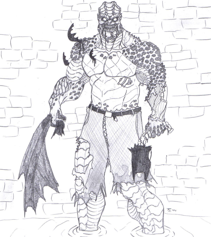 Clip Art Killer Croc Coloring Pages killer croc coloring pages az advanced of zombies for all ages batman arkham city croc