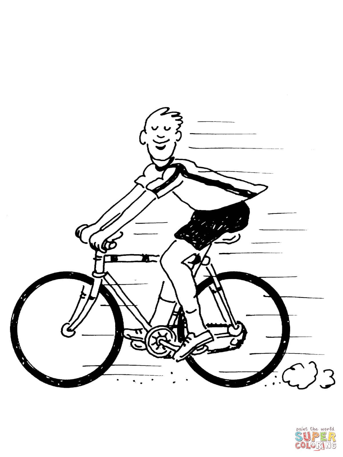 Cycling coloring pages | Free Coloring Pages