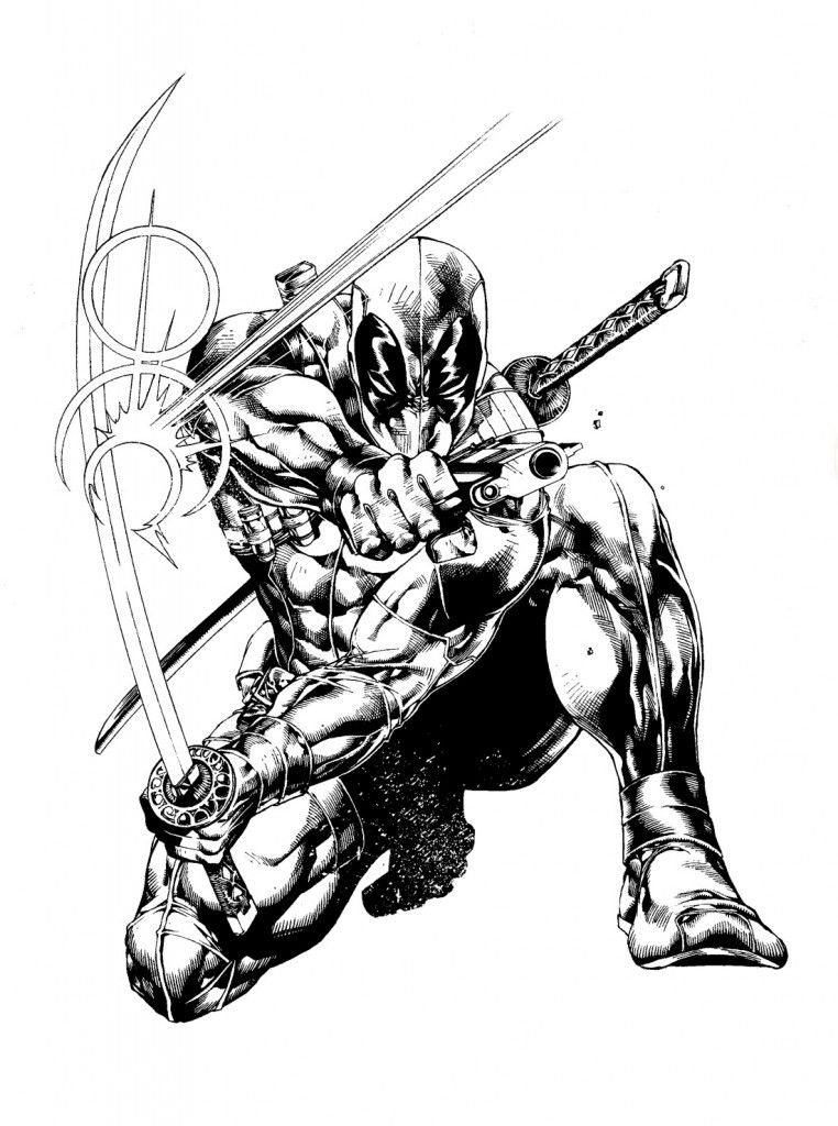 Deathstroke Vs Deadpool Coloring