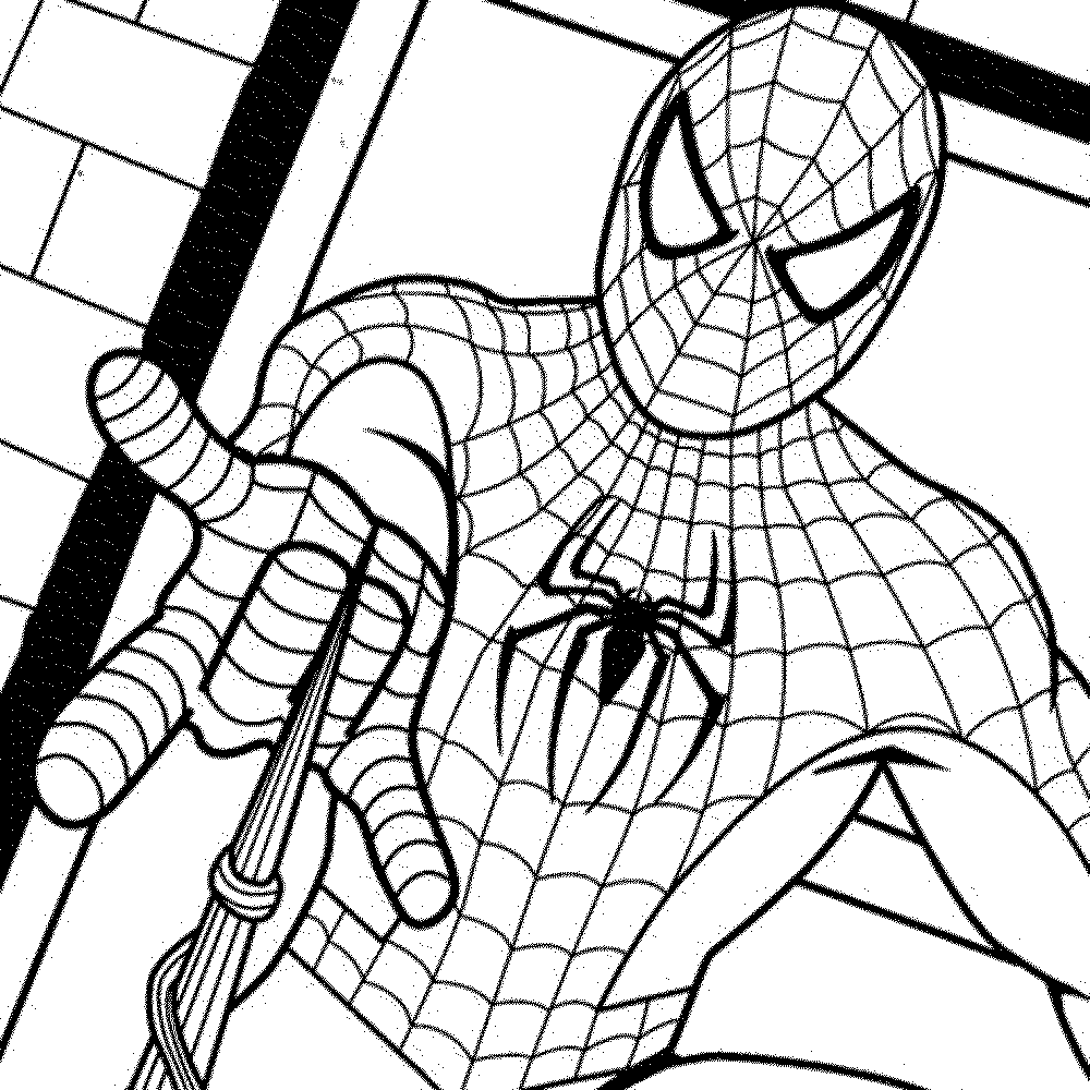 spiderman coloring pages shooting his web spiderman coloring