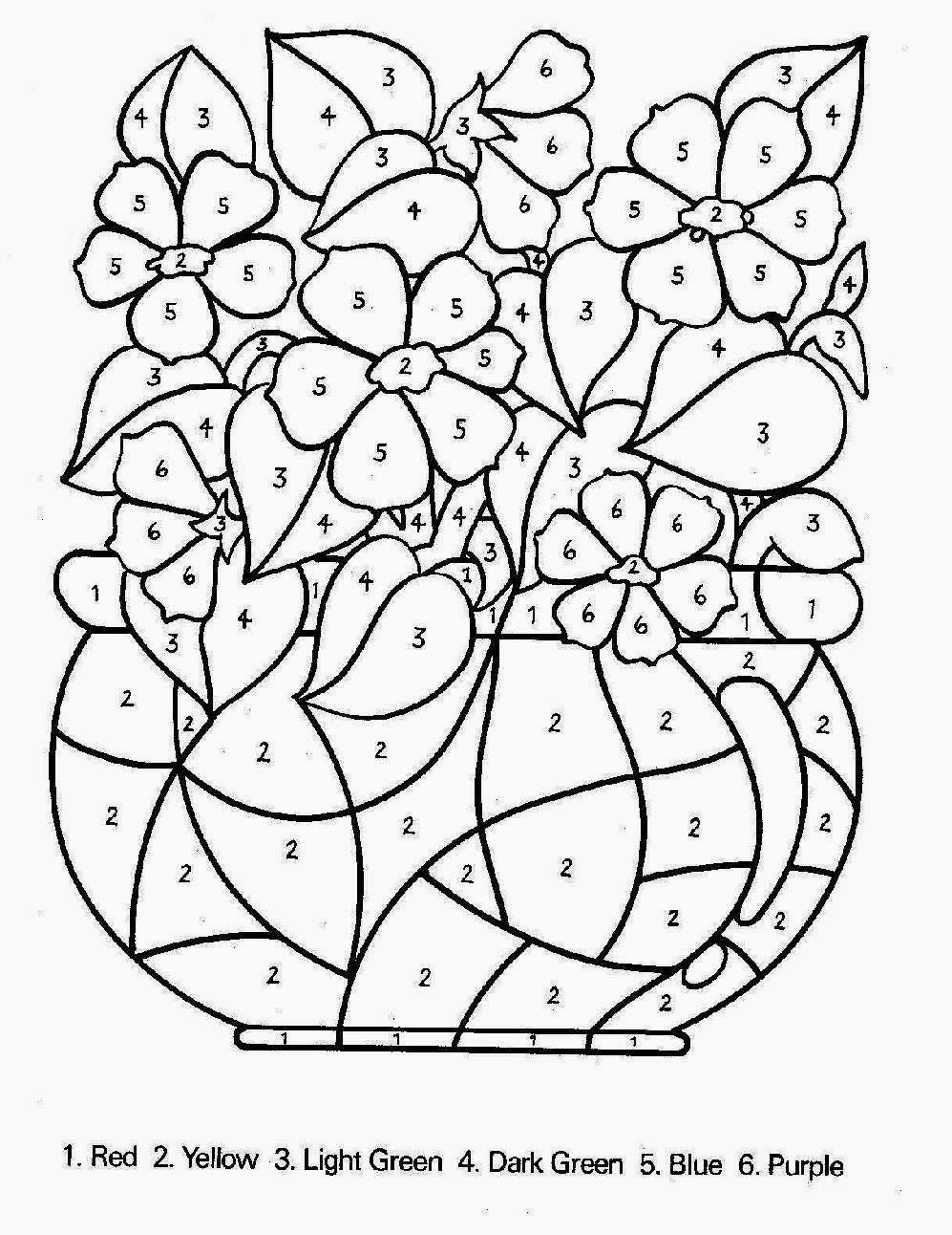 valentine coloring pages by numbers - photo #30