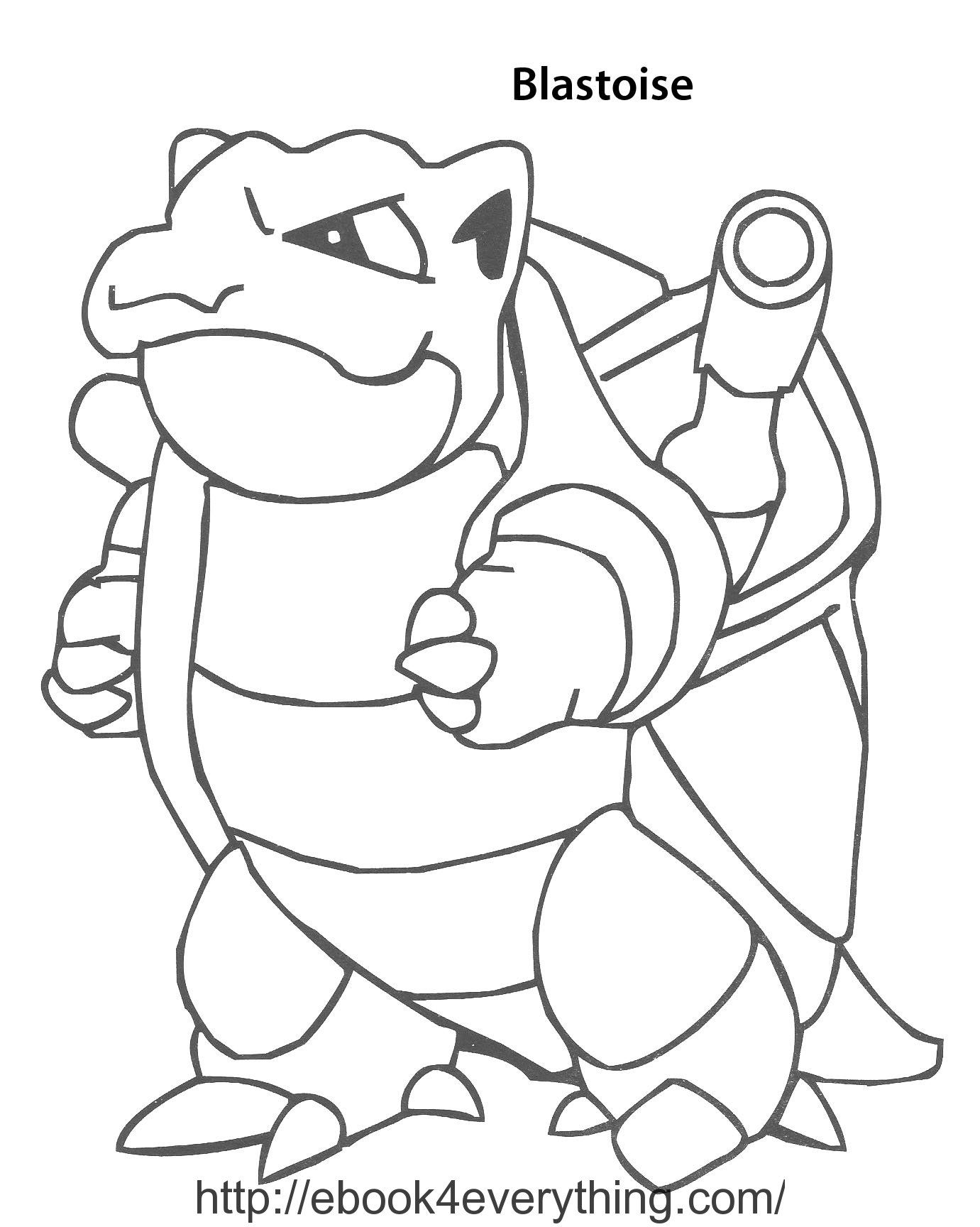 pokemon coloring pages of blastoise - photo#10