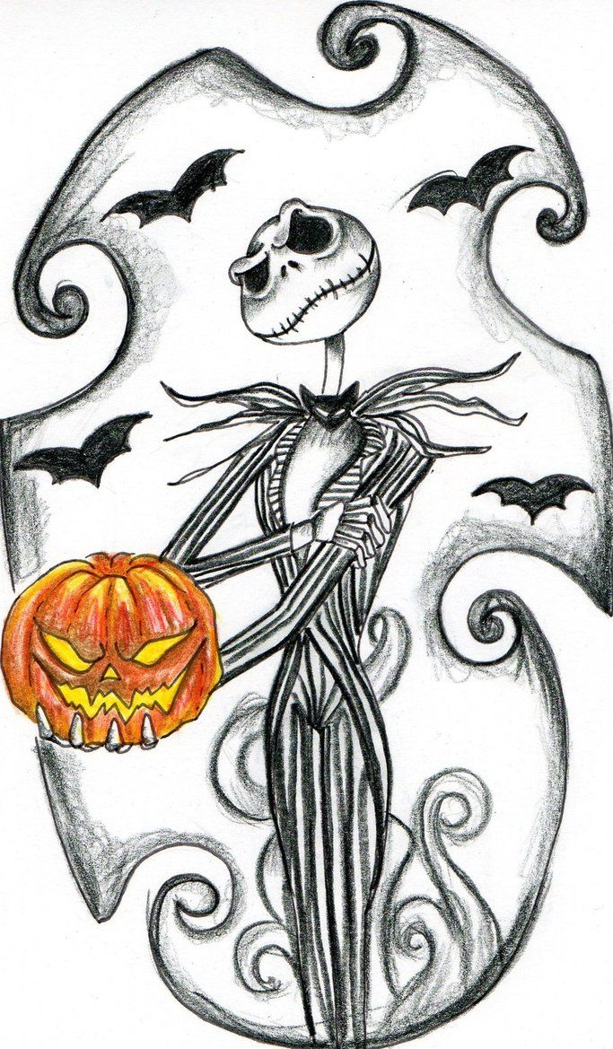 Free nightmare before christmas coloring pages printable for Jack skellington coloring pages