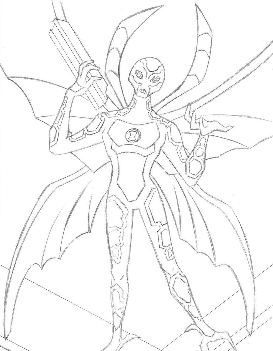 Big Chill Ben 10 Coloring Pages - Coloring Pages For All Ages