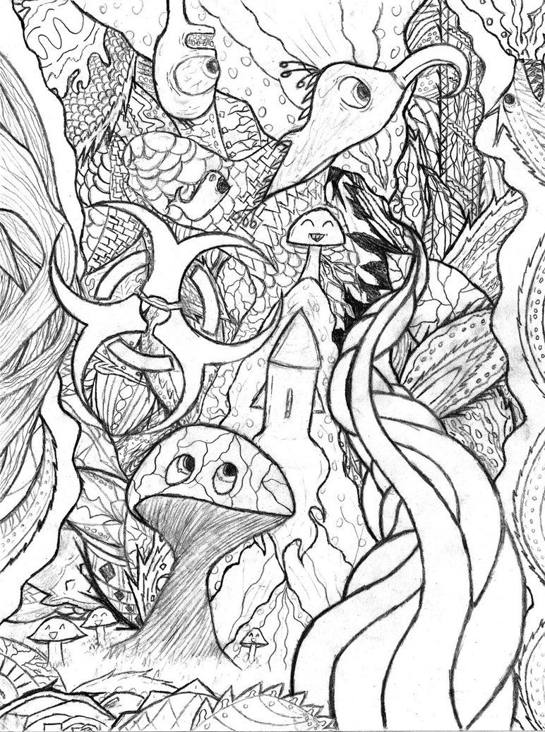 trippy coloring pages to print coloring home