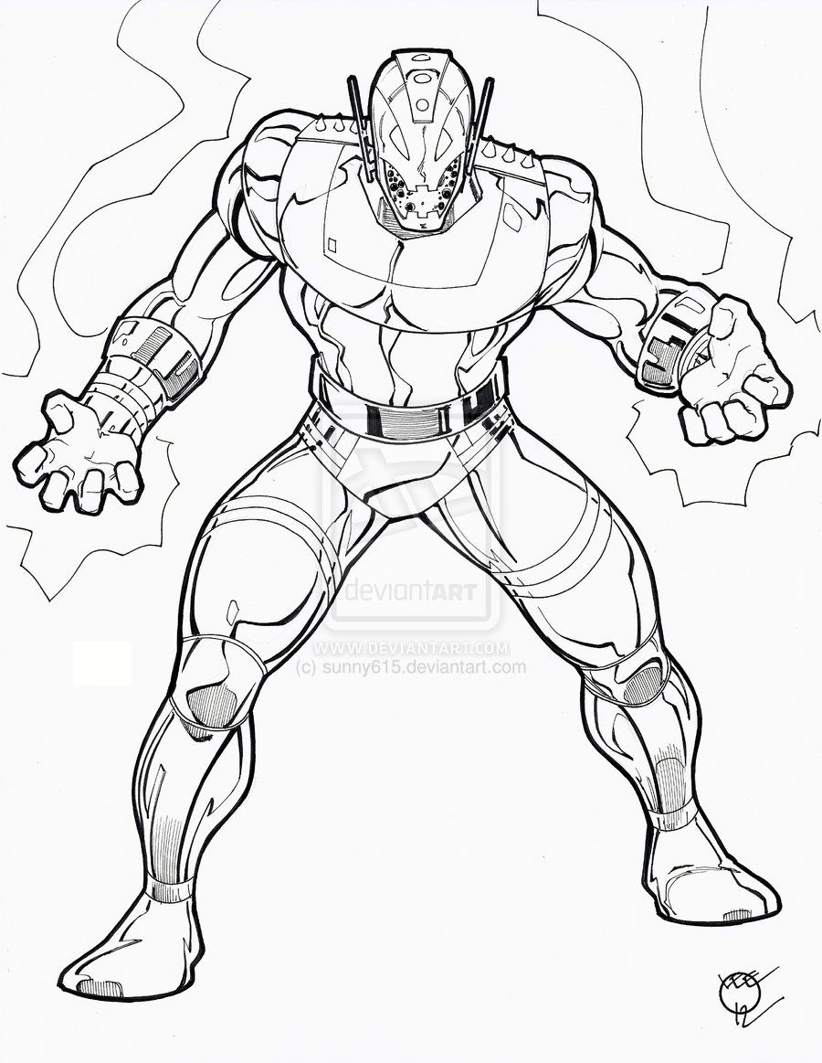 Avengers Coloring Pages Easy : Avengers colouring pages easy superhero