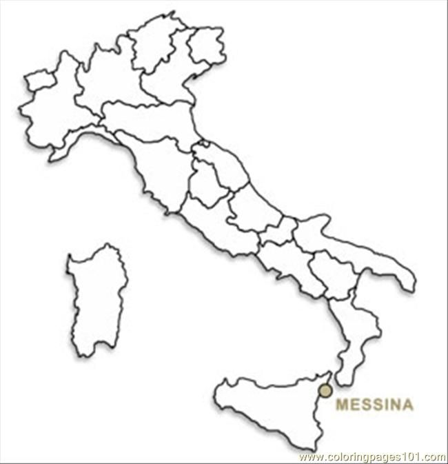 Coloring Pages Italy : Printable map of italy for kids coloring home