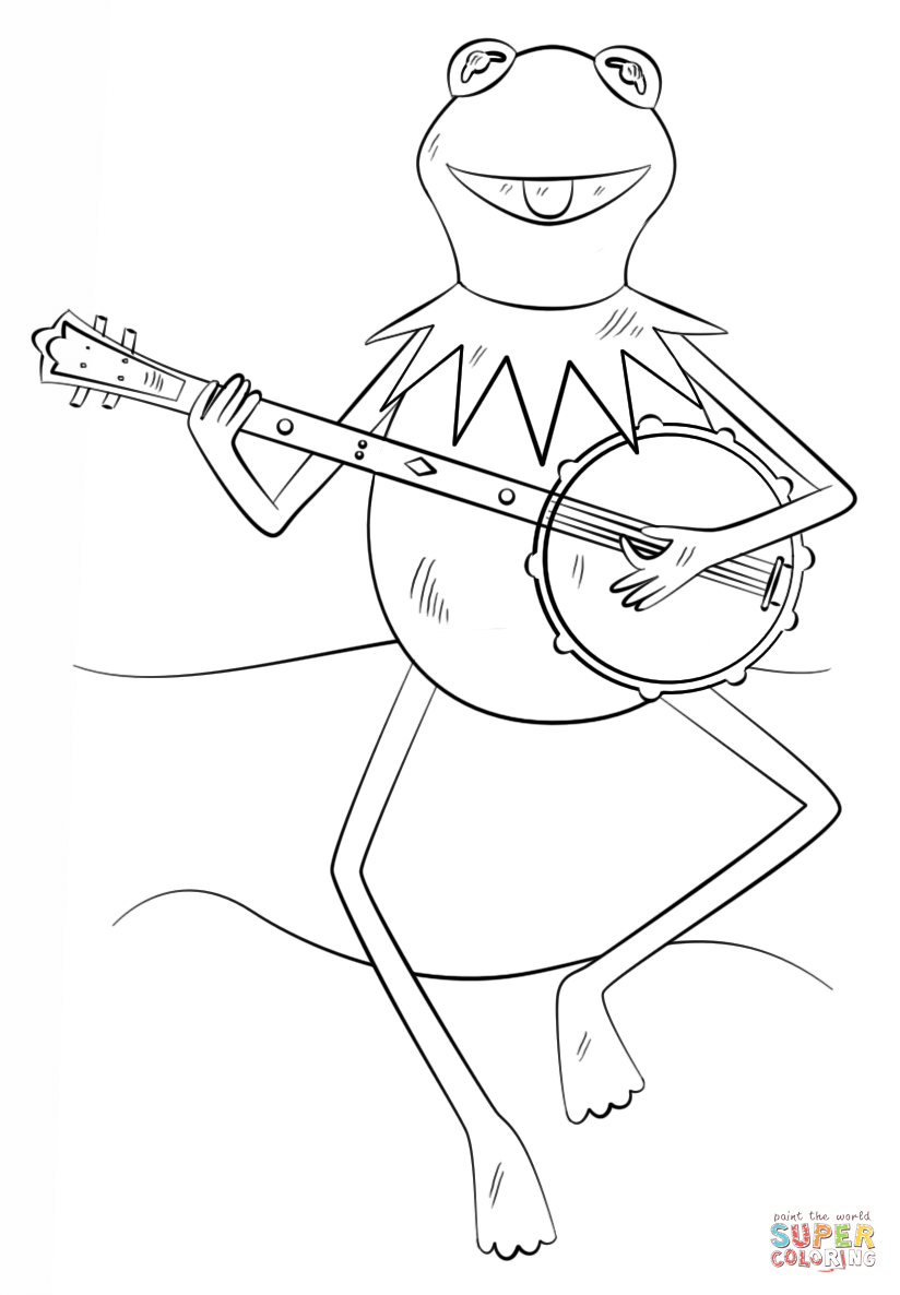 Kermit The Frog Coloring Page Az Coloring Pages