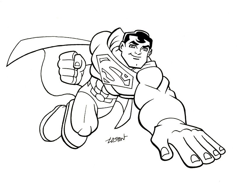 Super Friends Coloring Pages Page 1 Coloring Home