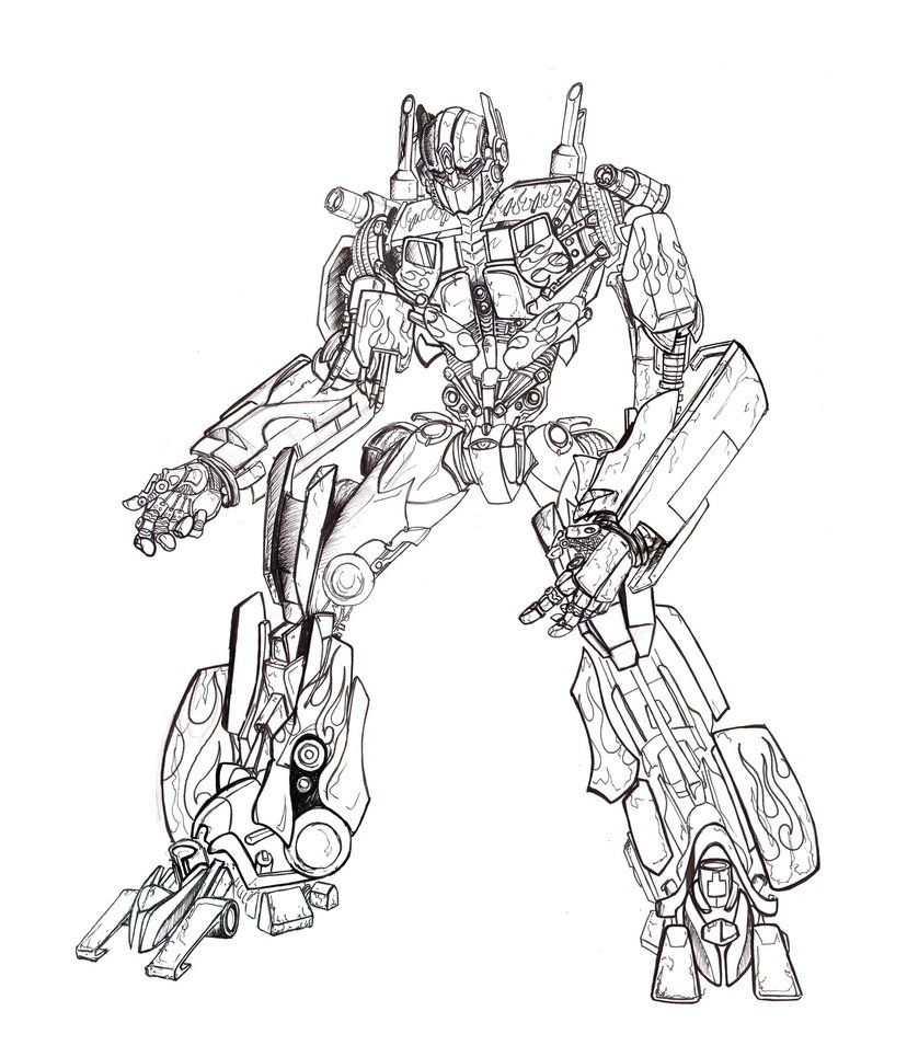 transformer coloring pages optimus prime to print coloringstar