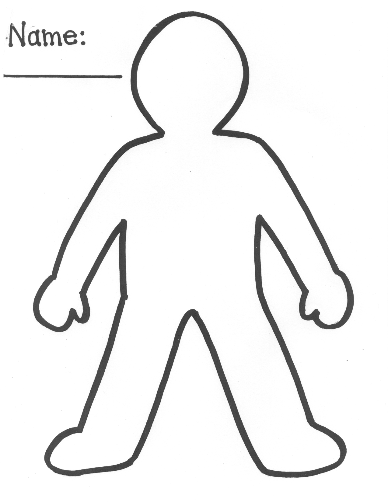 Clip Art Person Outline Coloring Page person outline coloring page az pages template of a people body cut out page