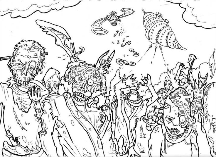 Halloween Coloring Pages Hard Co Good Com Coloring Home