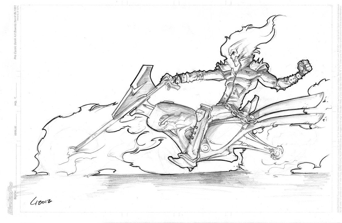 ghost rider free coloring pages - photo#34
