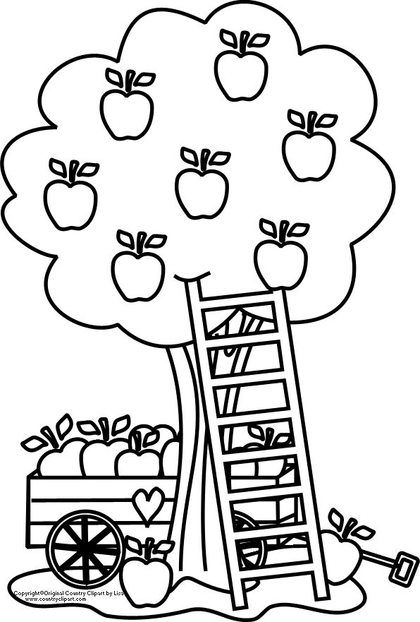 Fall Apple Coloring Pages : Apple tree pictures to color coloring home