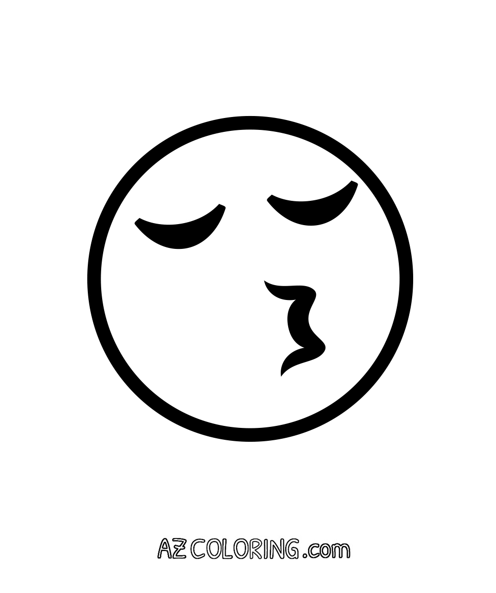 Coloring pages emojis