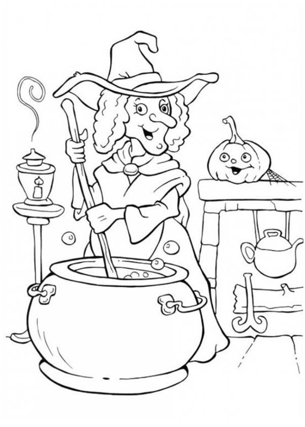 halloween witches coloring pages - photo#22