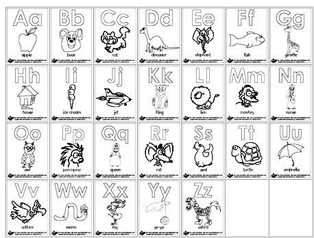 Whole Alphabet Coloring Pages Free