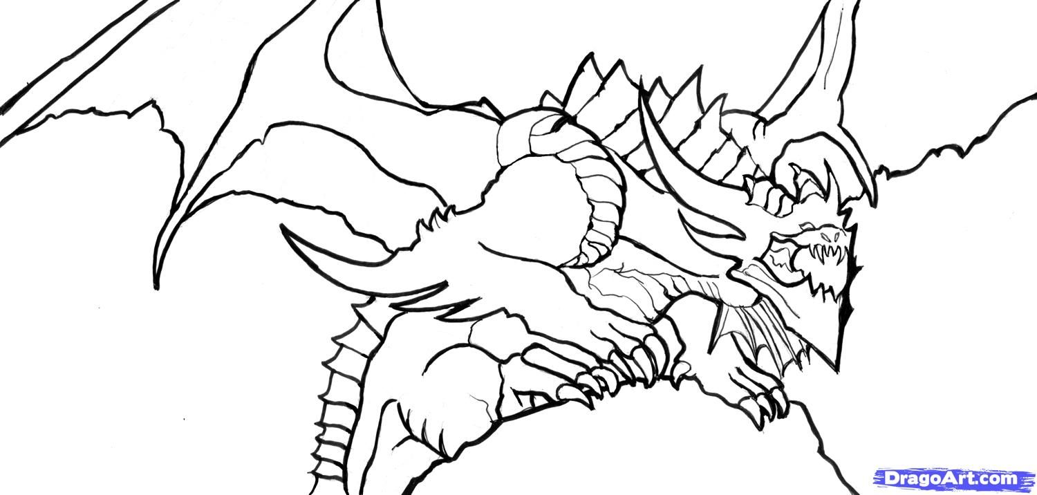 dragon gets by coloring pages - photo#24