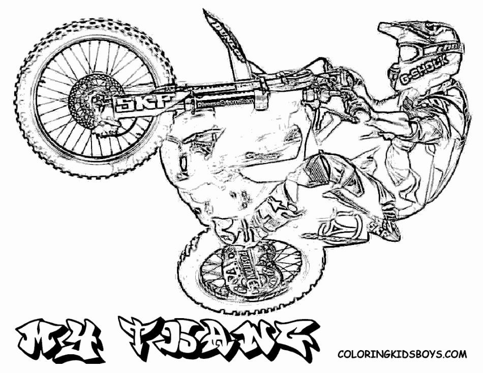 Motocross Bikes Coloring Pages - Coloring Home